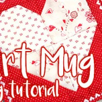 How to Sew a Heart Mug Rug Quilting Tutorial