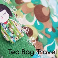 Tea Bag Travel Carrier Sewing Project Reveal - Tea for Two Swap