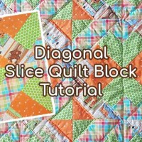 Video: Diagonal Slice Quilt Block Tutorial