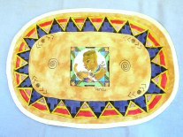 Fabric Painted African Queen Placemat