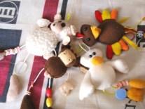 Sheep, Cow, Duck, Turkey