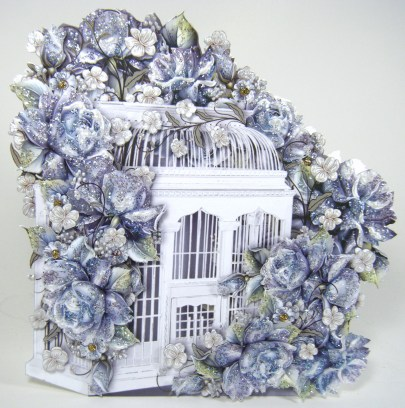 Blue Porcelien Birdcage face