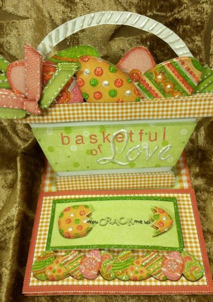 Easter Basket Easel Crack me up Stopper