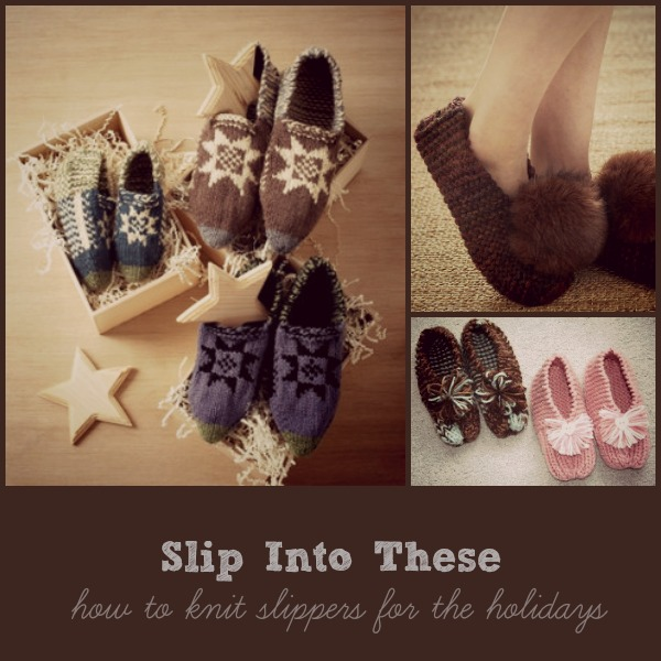 How to knit slippers for the holidays