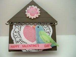 Bird house valentine front