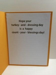 Turkey on embossed background inside