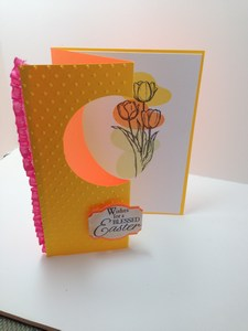 Easter tulip card inside