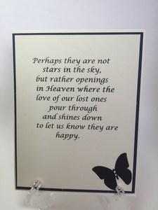 Sympathy butterflies inside