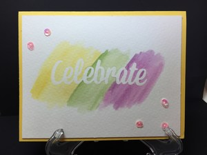 celebrate watercolor