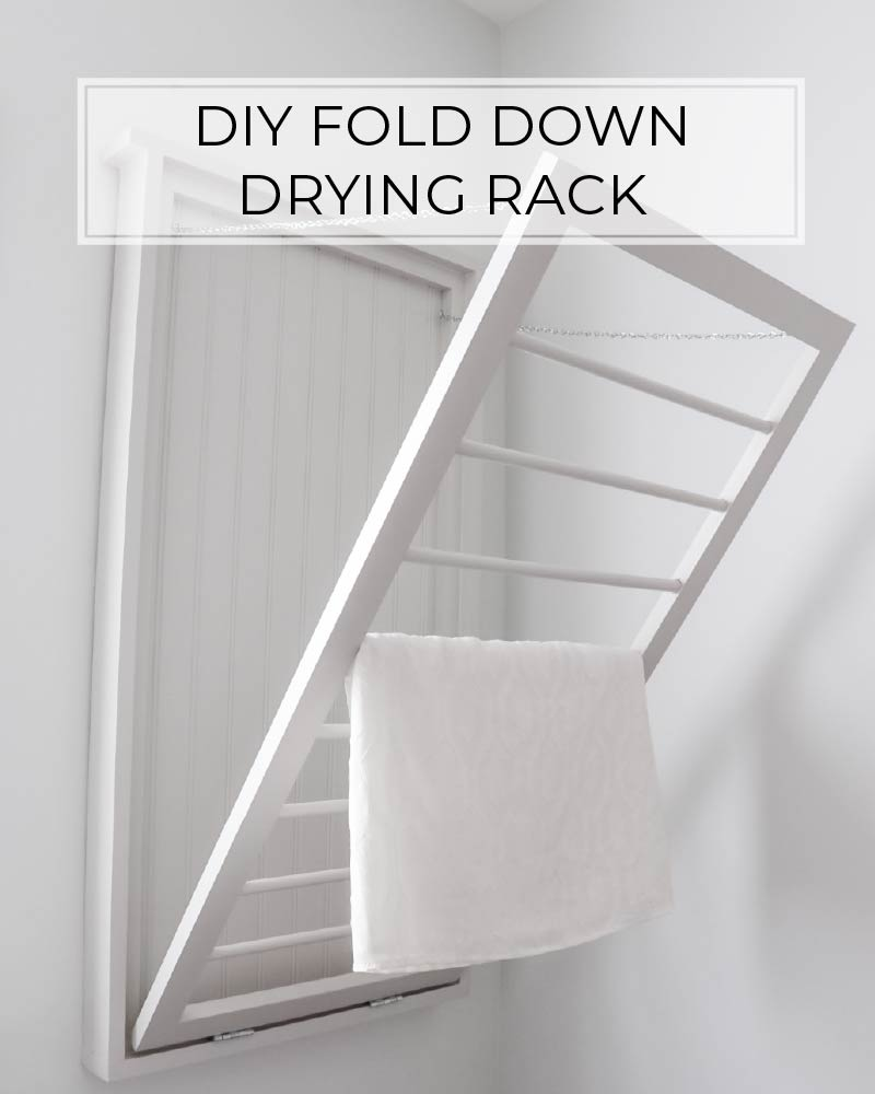 diy fold down drying rack crafted by