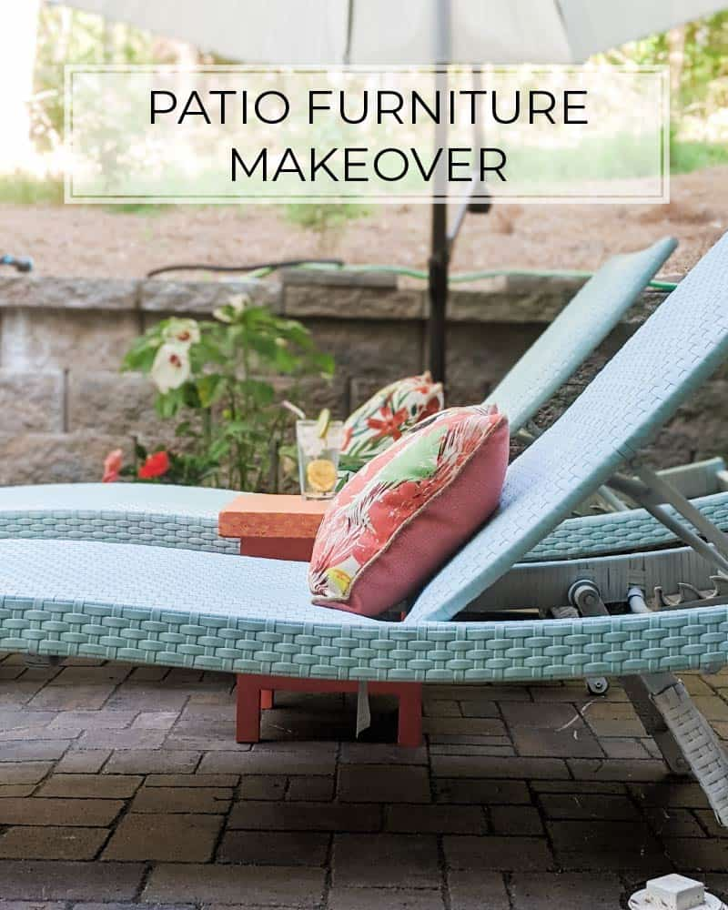 patio furniture makeover with spray paint