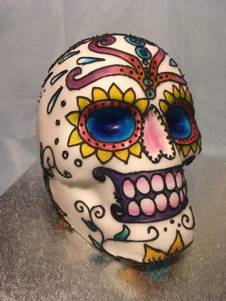 Decorated Skull Cake