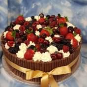 Summer-Fruit-Chocolate-cake