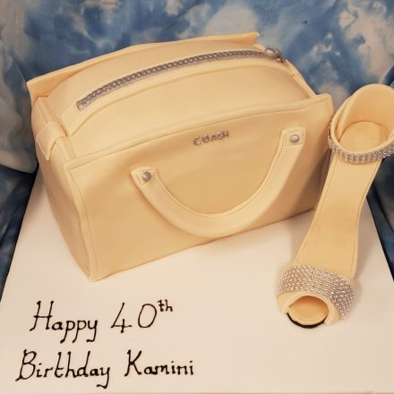 Bag & shoe womens 40th Birthday Cake