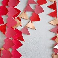 DIY Copper Heart Garland