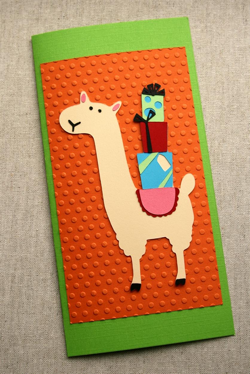 Cricut Friday Llama Birthday Card Crafted Living