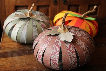 Paper Fall pumpkins