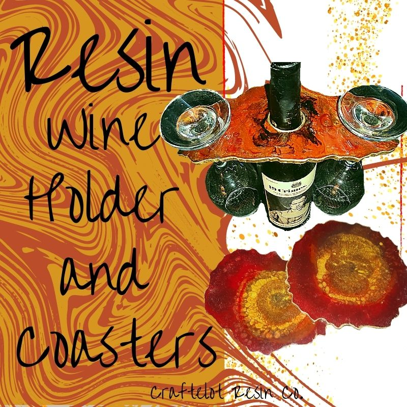 resin wine holder and coasters