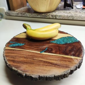 Resin and Wood Pieces