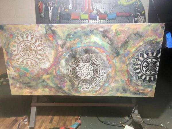 Large Mandala Resin Art For Sale