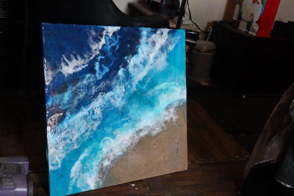 Ocean Resin Painting