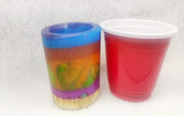 Resin and Wood Shot Glasses