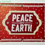 Peace on Earth card by Lynda Falconer, Independent Stampin Up Demonstrator at www.crafterinspired.com using Carols of Christmas Stamp Set and Card Fronts Thinlit Dies on Let
