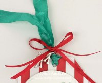 Close up of Christmas Gift Tag by Lynda Falconer at www.crafterinspired.com using Stampin Up Products
