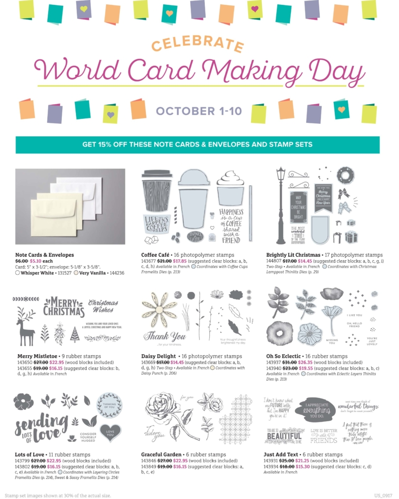 These items are on Sale Oct 1-10 for World Cardmaking Day at www.lyndafalconer.stampinup.net