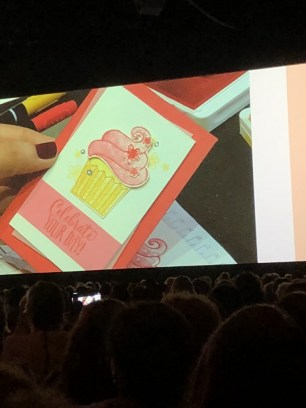 Onstage card demonstration
