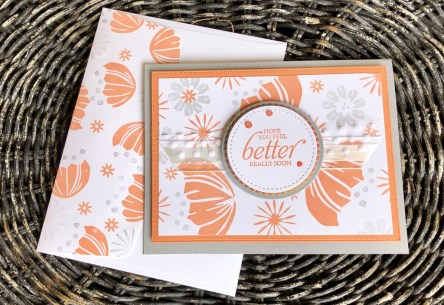 Get Well Card using Bloom by Bloom Stamp Set #148820 Retiring in June. Get yours now at www.lyndafalconer.stampinup.net.