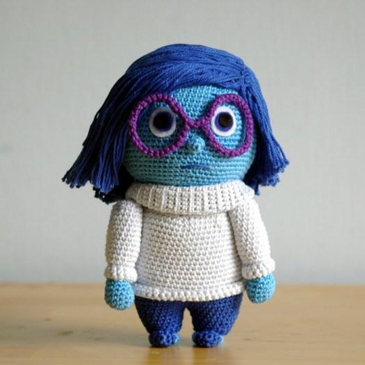 Inside Out's Sadness Doll Free Crochet Pattern