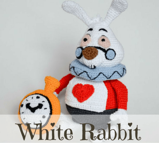 Craft Evangelist loves this White Rabbit from Alice in Wonderland crochet pattern