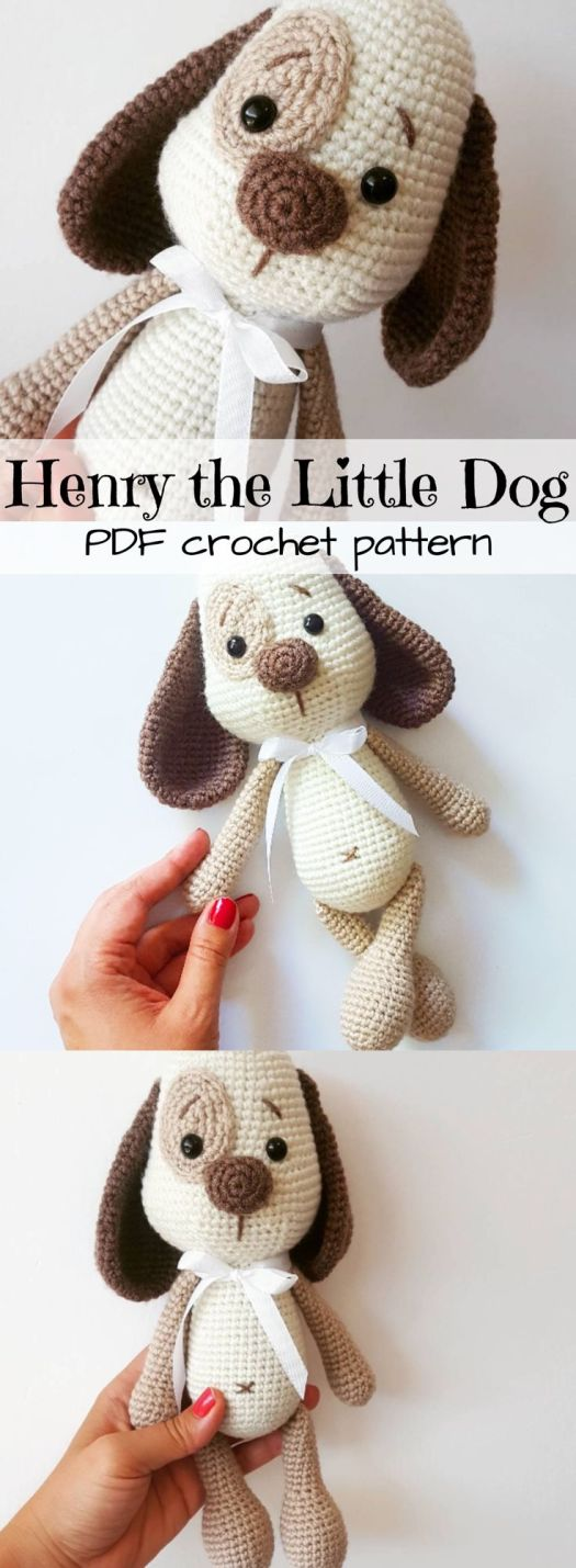 Love this!!! Adorable puppy crochet pattern! This little dog toy is so cute! I can't wait to make him!