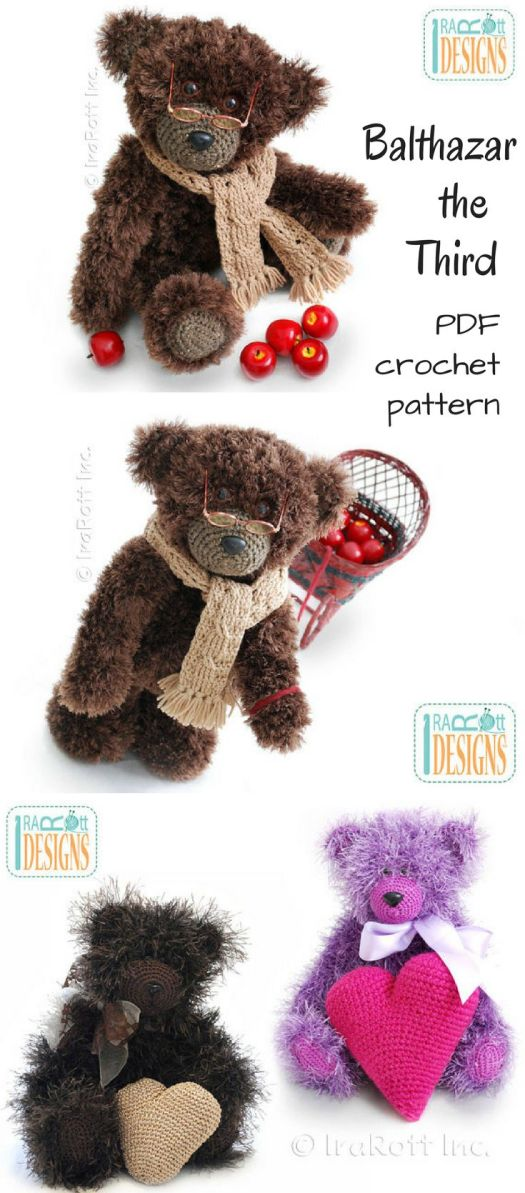 What an adorable crochet teddy bear pattern! I love this cuddly, fuzzy amigurumi stuffed animal pattern that I can DIY! Check out craft evangelist's teddy bear pattern finds!