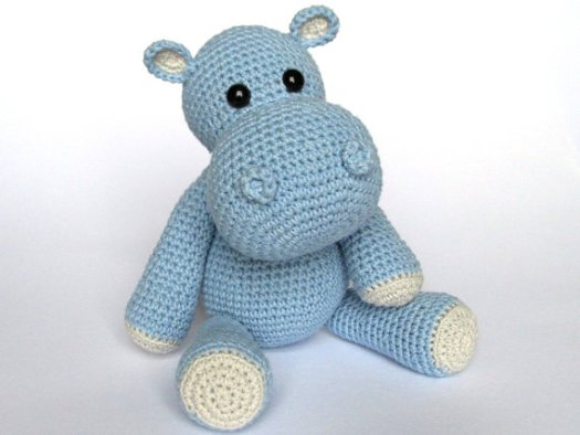 Little Hippo Amigurumi Crochet Pattern - one of craftevangelist's daily finds