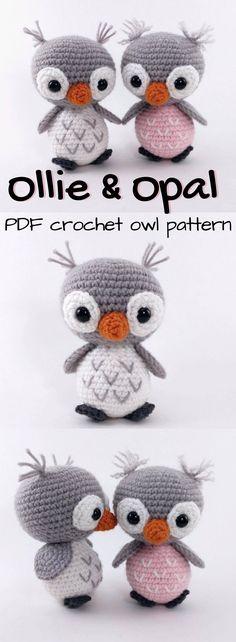 Ollie & Opal Crochet Owl Pattern