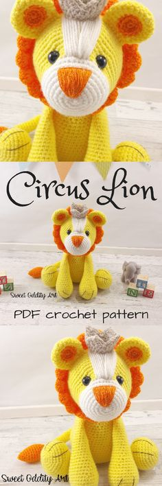 Adorable little lion amigurumi stuffed toy crochet pattern! Love this cute little toy to make! Check out all of craft evangelists DIY toy finds!