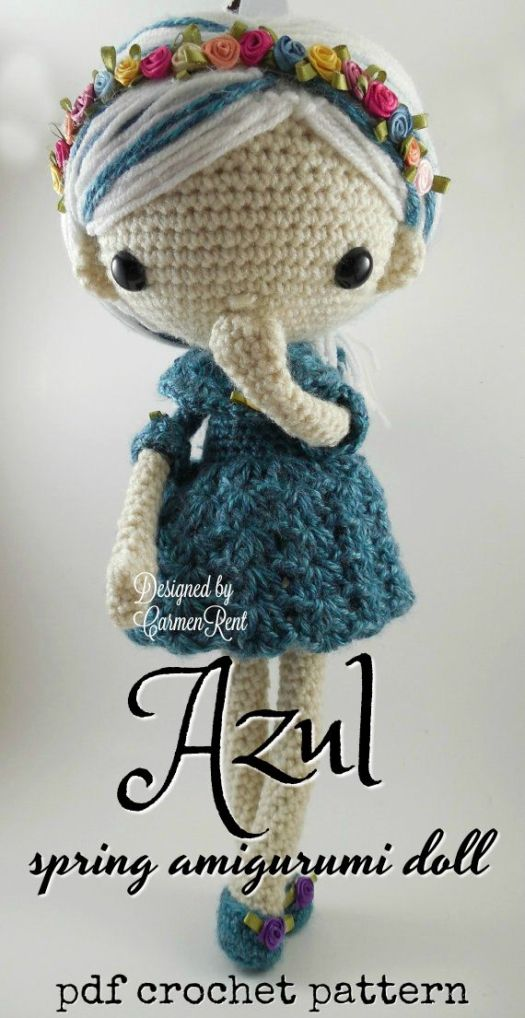 Gorgeous amigurumi crochet doll pattern! Check out all of craft evangelist's DIY toy finds!