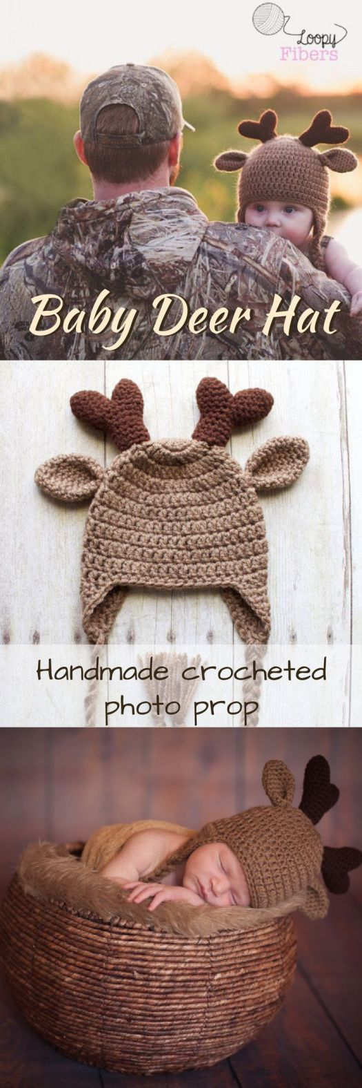 Soooooo cute! Crocheted baby deer hat! Warm and adorable. Perfect for photo shoot, but also great for just staying warm in the winter. Now I just need a pattern.. Check out all of craft evangelist's baby pattern finds!