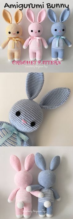 What a sweet bunny pattern! I love amigurumi crochet patterns like this one! So simple and adorable! It would make a great new baby gift! Check out all of craft evangelist's DIY toy finds!