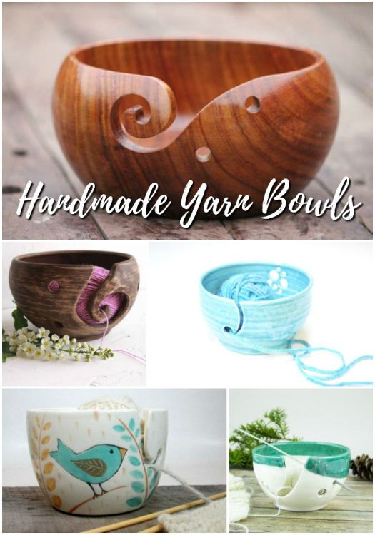 Oh I need one of these beautiful yarn bowls! So simple, yet so perfect for keeping your yarn untangled and in one spot! These are gorgeous!