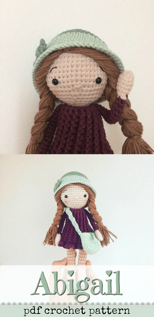 Abigail crochet doll pattern. Such sweet and unique details on this beautiful amigurumi toy pattern. So cute! #craftevangelist