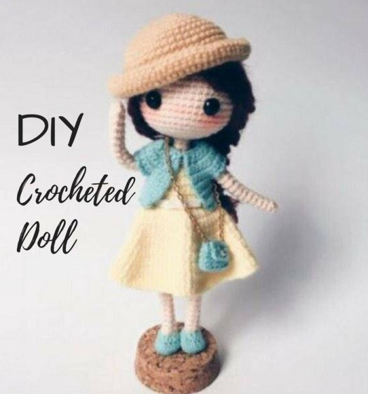 What a sweet crocheted doll pattern! Love this adorable little doll with her teeny purse and hat! Sweet find in craftevangelist's summer top 10 Etsy picks! #craftevangeilst