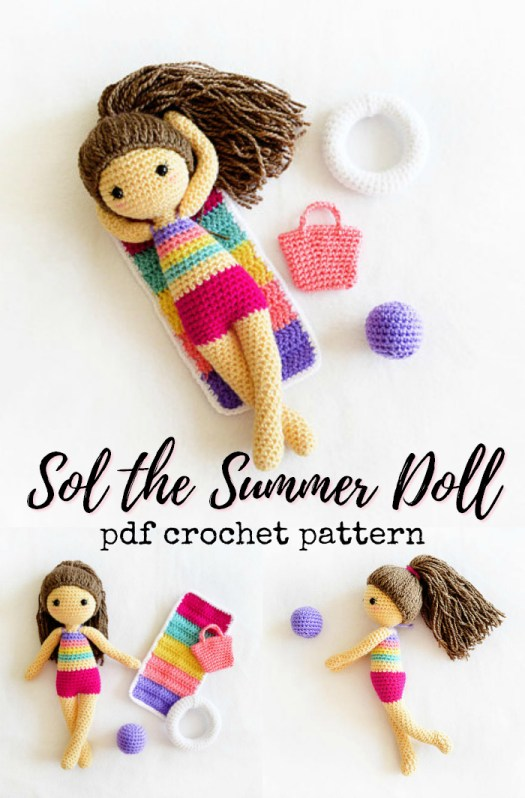 Crochet this adorable amigurumi summer doll pattern on your holidays this year! Super sweet little pattern! Crafty find by #craftevangelist