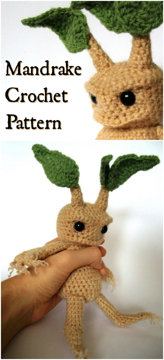 This adorable Mandrake Crochet Amigurumi stuffed toy pattern from Harry Potter is the perfect handmade gift to make for the Potterhead in your life! I think I'm going to make one for all my kids!!! #HarryPotter #crochet #amigurumi #pattern #stuffies #Potterhead #handmade #craftevangelist