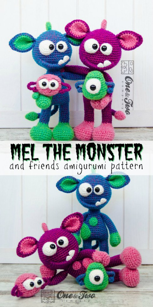 Check out this adorable monster amigurumi stuffed toy crochet pattern! It would make a sweet little monster friend for a kid! Pattern round up by #craftevangelist
