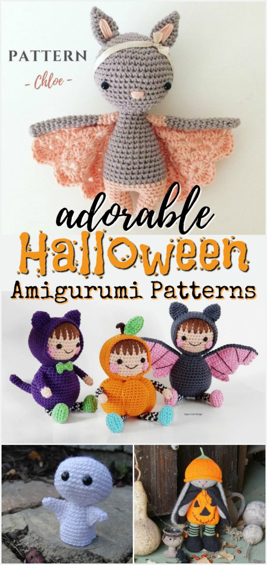 I love these sweet little Halloween amigurumi dolls! Such perfect little handmade toys to make! Great crochet patterns and knitting patterns to DIY! #crochet #knit #pattern #Halloween #crafts #DIY #handmade
