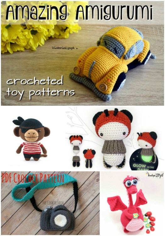 Fantastic Amazing Amigurumi Finds. Handmade crocheted toy patterns to make! These make great handmade gift ideas! #craftevangelist #crochet #patterns #yarn #diy #crochetpatterns #crochetlove #crafts