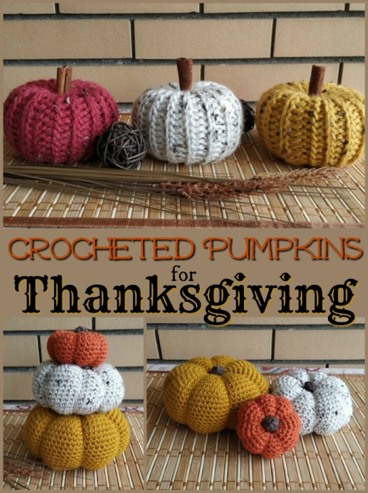 Such cute crocheted pumpkins make great handmade Thanksgiving decorations!